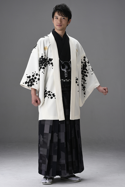 桜吹雪友禅男紋付