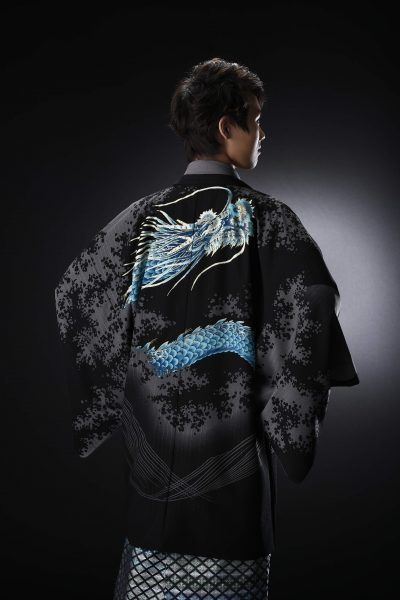 龍友禅絵羽男紋付 青龍