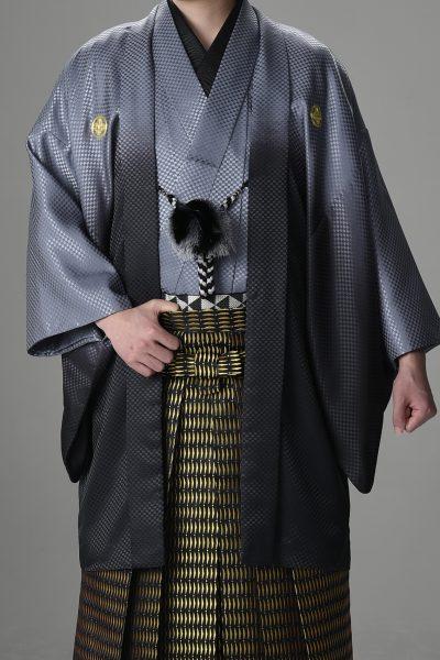 Newボカシ男紋付 グレー