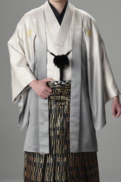Newボカシ男紋付 ベージュ