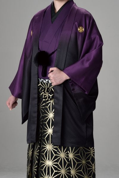 Newボカシ男紋付 紫